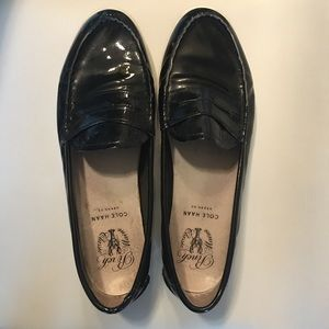 Cole Haan LTE weekender Black Patent Penny Loafers
